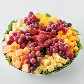 Fruit And Cheese Display   Fruit and Cheese Platter