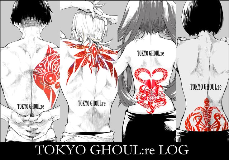 Urie, Shirazu, Saiko y Mutsuki || http://www.pixiv.net/member_illust.php?mode=manga&illust_id=48149316
