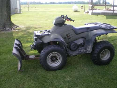 1996 Polaris 4 X 4 ATV.  Motor has been completely rebuilt, includes snowblade and several other parts(new starter, tires and wheels and rack)  Runs great and does a good job in the winter plowing snow.  In very good condition.  A great buy if you are looking for a good ATV!!!! $2,100.00 USD