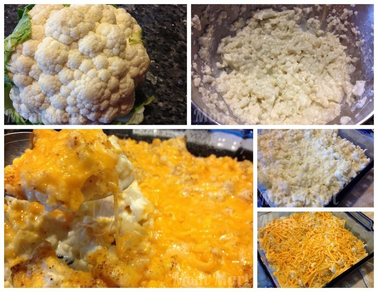 Cheesy Mashed Cauliflower recipe