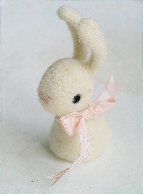 Bunny  ♥ Felt Wool Doll