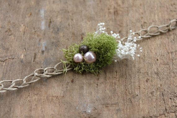 Moss & Pearls Tieback Newborn Photo Prop on Etsy, $16.00