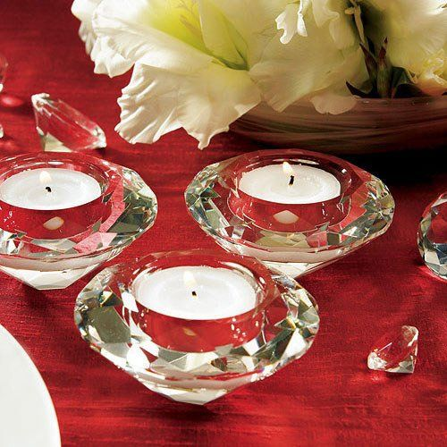 Crystal Diamond Tealight Holders by Beau-coup