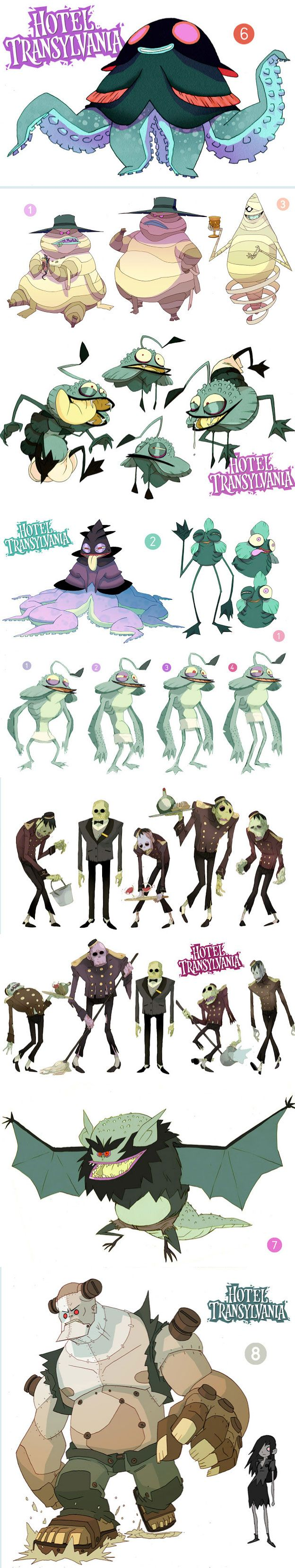 Character Design For Games Book : Best images about concept art quot hotel transylvania on