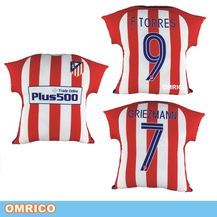 2016 2017 Home Match Club Atletico de Madrid S.A.D Jersey Seat Support Cushion Fans Souvenir Decoration Gifts Griezmann Torres