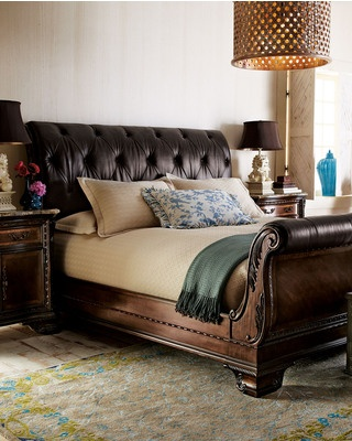 """Alexander"" Sleigh Bed @ Horchow"