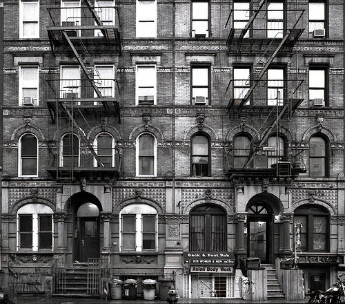 St Marks Place, East Village, NYC (the buildings on the cover of Led Zeppelin's Physical Graffiti cover...that is why I want to live there)
