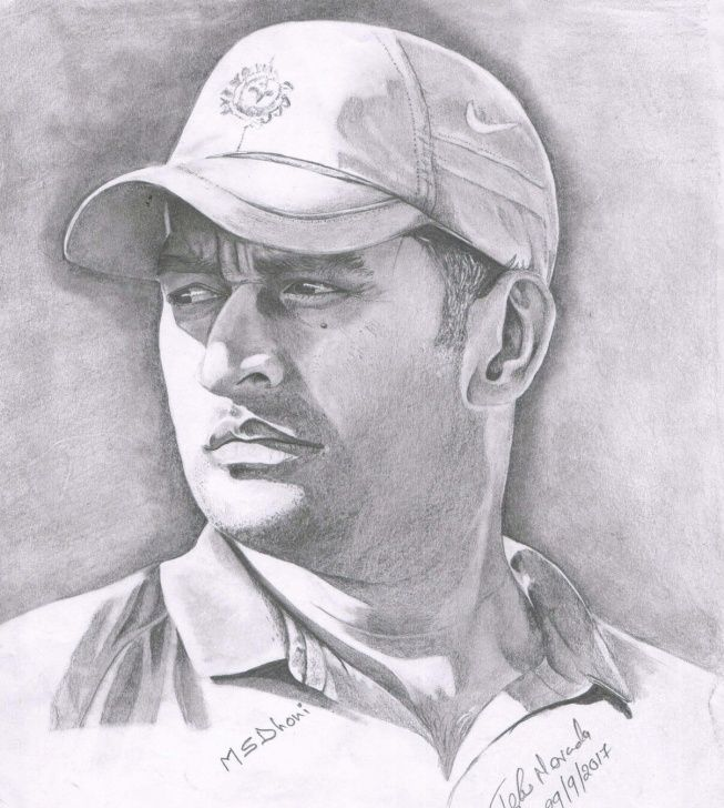 Ms Dhoni Pencil Sketch In 2020 Pencil Drawings Of Animals Pencil Sketch Images Pencil Sketch Portrait