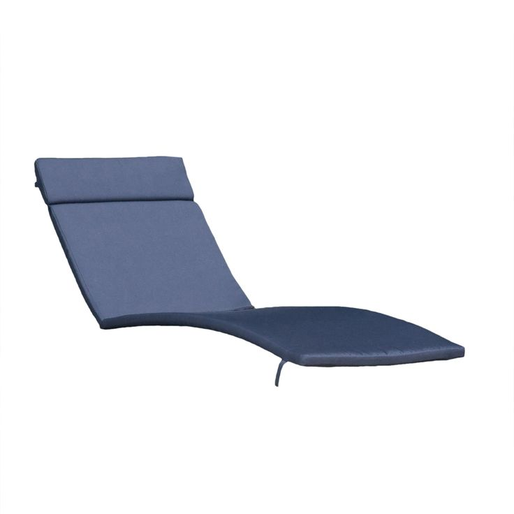 """Denise Austin Home Albany Navy Blue Lounge Cushion Only (Set of 2). Includes: Two (2) Cushions. Dimensions: 80.00""""L x 26.50""""W x 1.50""""H. Materials: Waterproof Fabric (100% Polyester). NOTE: Chaise lounges sold separately. The Denise Austin Home Albany Lounge Cushion Set is a versatile and fun solution for your outdoor lounging needs. These cushions are made with a waterproof fabric and have ties on either side to secure them to your lounge. Relax in comfort with the Albany Lounge Cushions."""