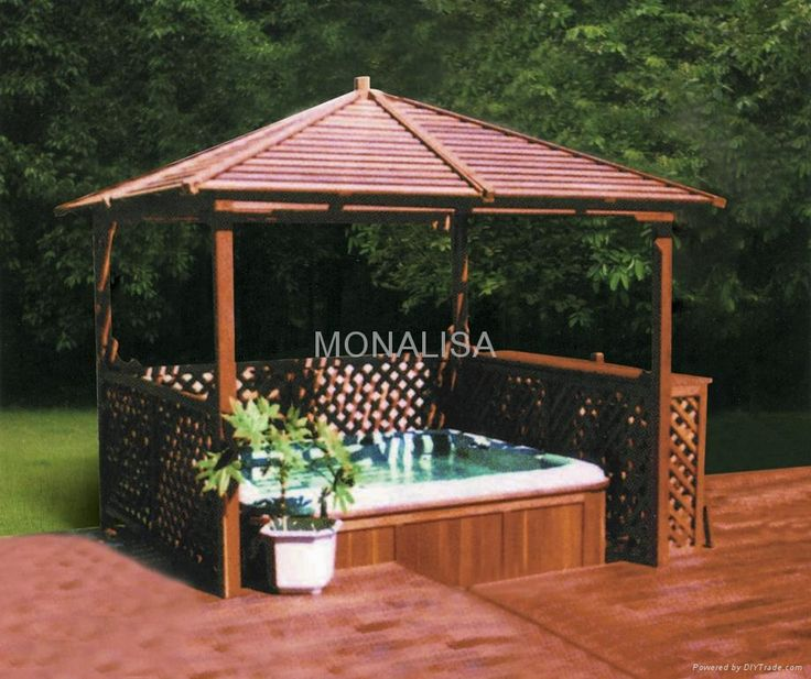 Outdoor Enclosures Made With Lattice And Pavers Spa