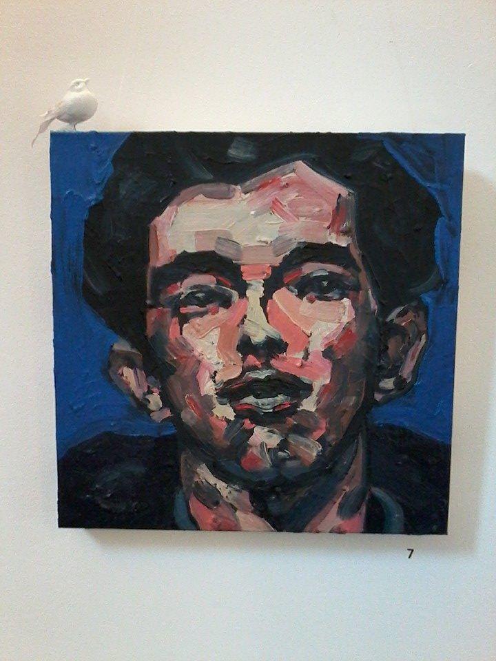 'Romeo', oil on canvas.