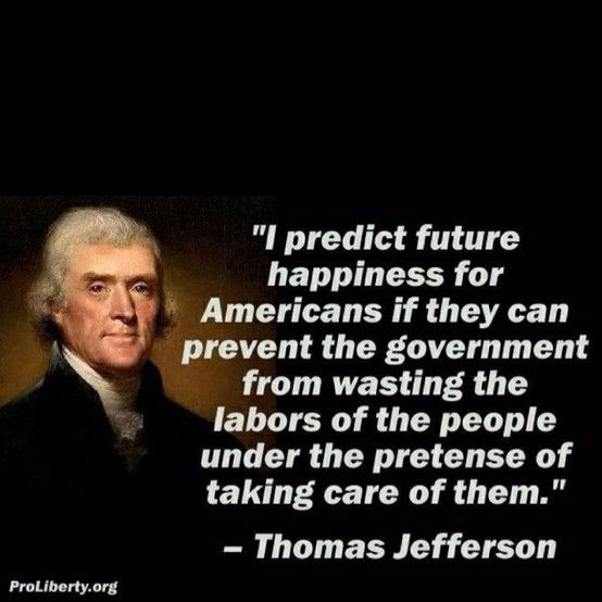Thomas Jefferson, one of the fab seven, the founding fathers of our nation (look down on us now)