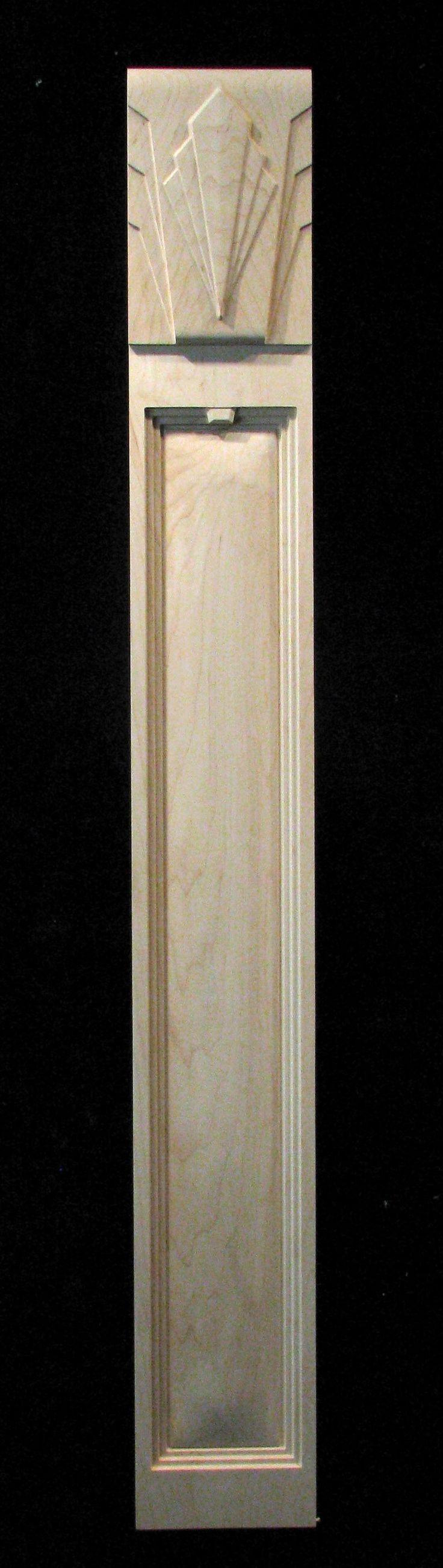 Carved deco pilaster