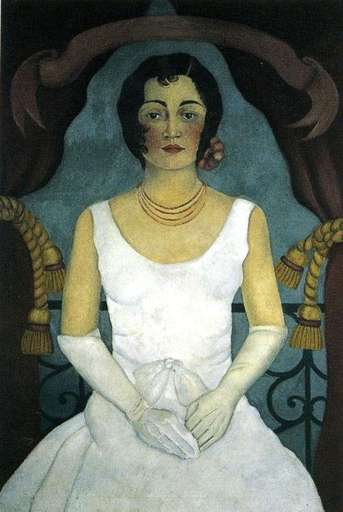 Frida Kahlo :: Woman in White