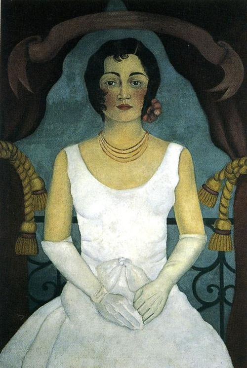 Woman In White ~ Frida Kahlo