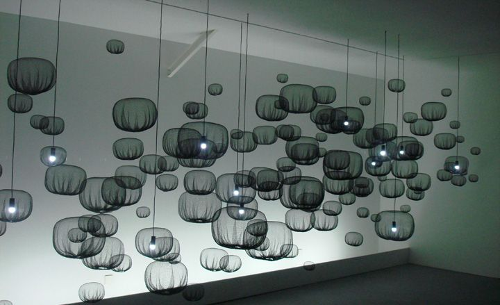 Static Bubbles exhibtion by Nendo at the Carpenters Workshop gallery