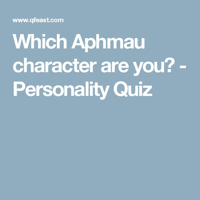 Which Aphmau character are you? - Personality Quiz