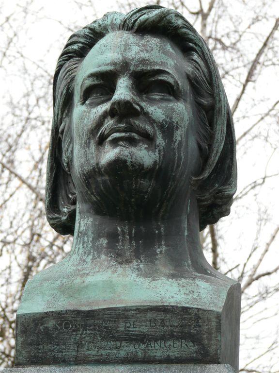 Buste de Balzac au Père Lachaise