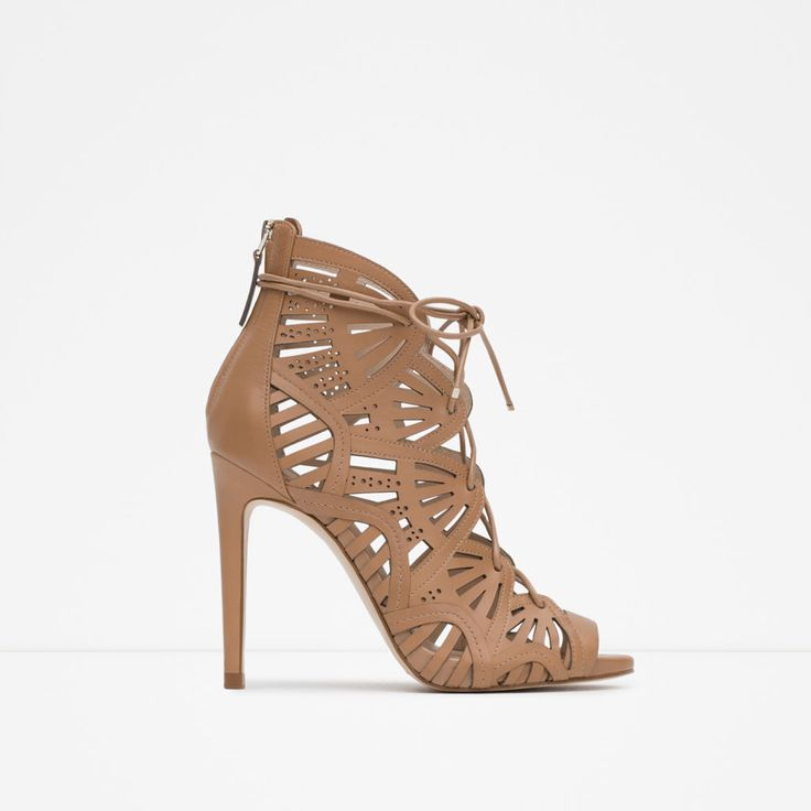 WRAPAROUND LEATHER SANDAL | ZARA United States