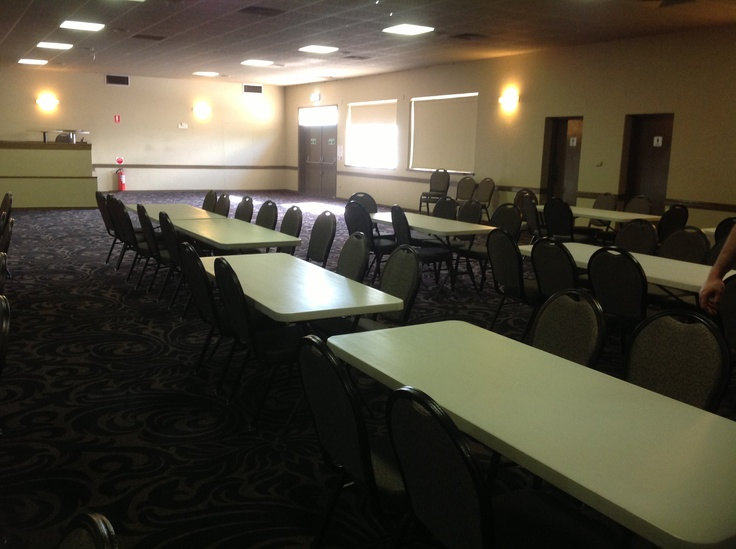 Reception - Commercial club Nathan room but with round tables