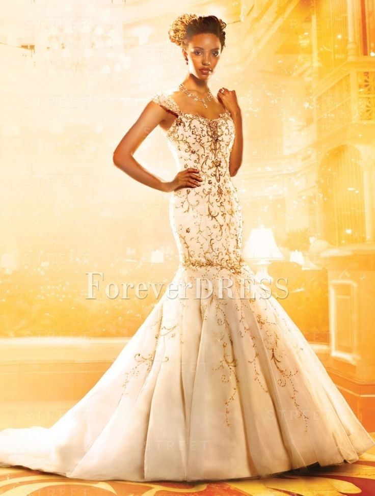 spaghetti straps white tulle mermaid unusual wedding dress with regard to yellow and white wedding dresses
