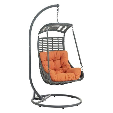 Modway Jungle Outdoor Patio Swing Chair, Multiple Colors Available, Orange