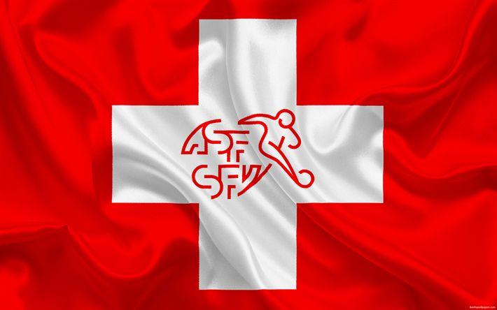 تحميل خلفيات سويسرا المنتخب الوطني لكرة القدم, شعار, اتحاد كرة القدم, العلم, أوروبا, سويسرا العلم, كرة القدم, كأس العالم