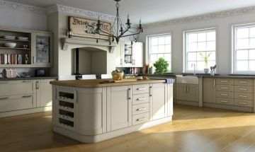 Bella Paintable White Kitchen. By BA Components, kitchen doors replacements and trade kitchens.