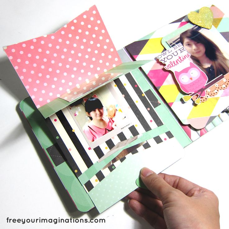 This is the Inside View of VALENTINE CARD for girlfriend with Green Polkadot Design Theme