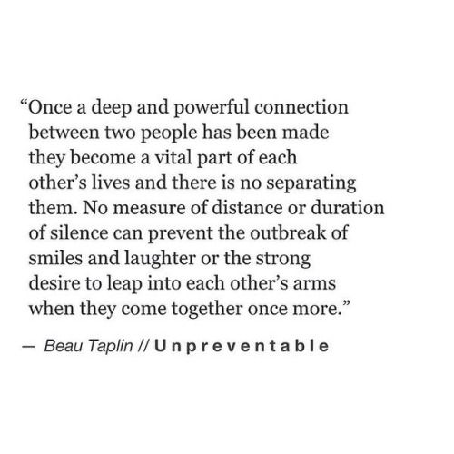 Quotes On Loving Two People: Once A Deep & Powerful Connection Between Two People Has