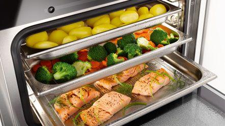 Compleet menu met aardappelen, groenten en zalm - Recepten zoeken