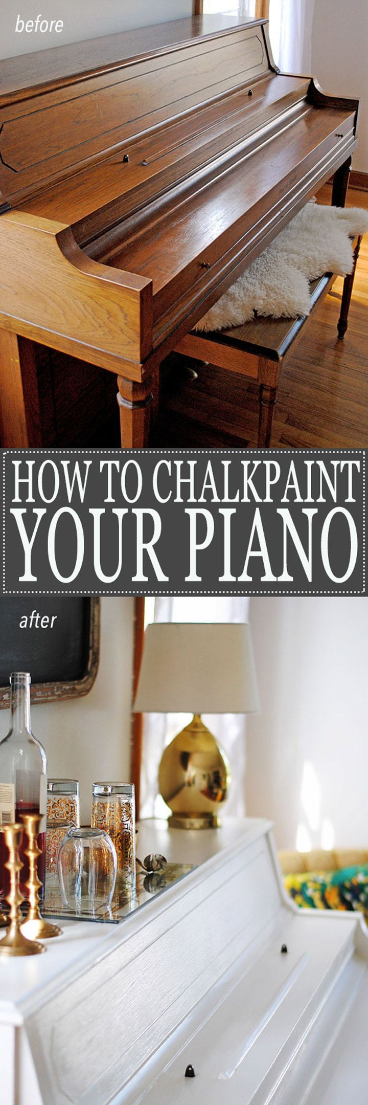 how to paint your piano white!