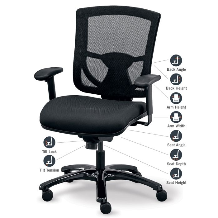 how to set up office chair