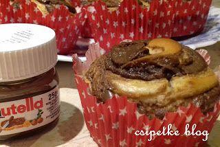 csipetke: Nutella örvényes muffin