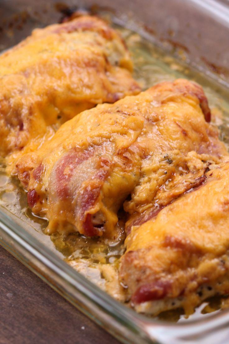 4-Ingredient Bacon Ranch Chicken Bake