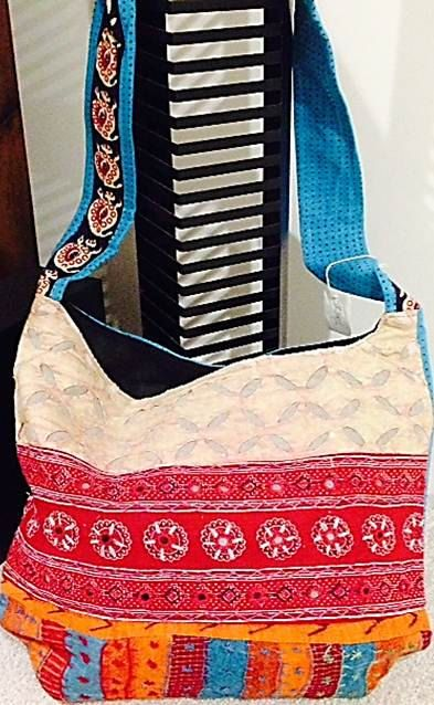 super stylish VINTAGE INDIAN cloth bag with by WondrousCreation