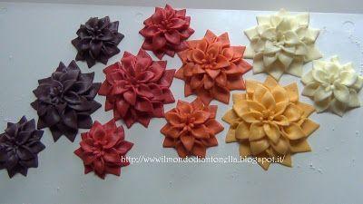 Il Bellissimo Mondo Di Antonella Decorating: Tutorial Fiori in pasta di zucchero ,Tutorial Mums Flower Fondant , gum pastes