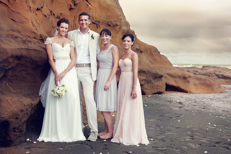 Fiona Quinn Photographer / Danella Jade / Castaways / Reem Acra copy / Beige suit / pastel bridesmaids / blush pink bridesmaid / beige bridesmaid / beach wedding