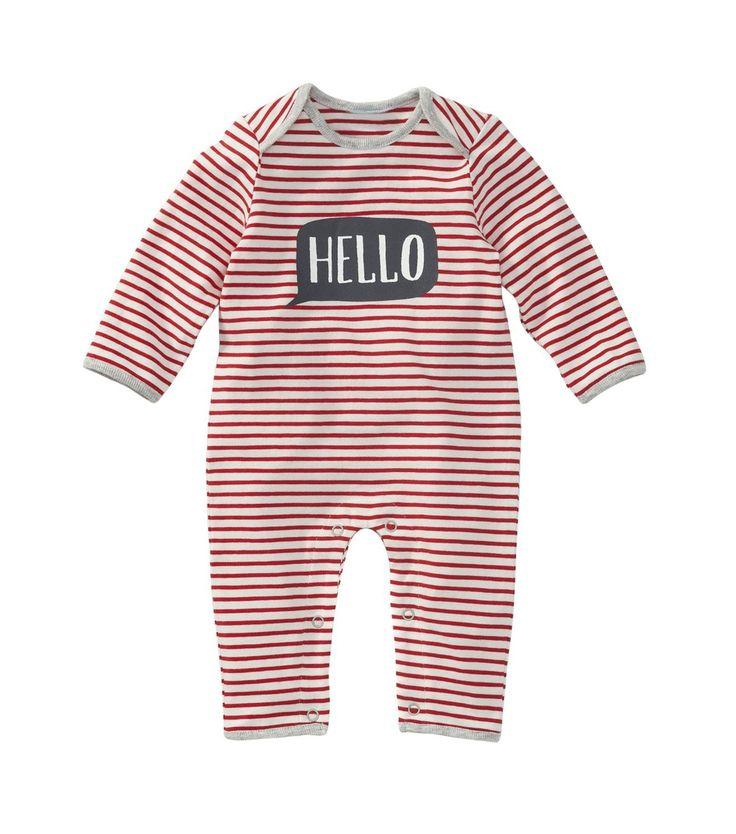 Newborn jongens jumpsuit hello - HEMA