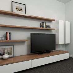 TV wall units modern australia - Google Search