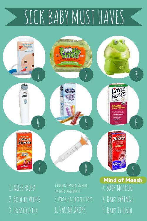 Sick Baby Must-Haves Items