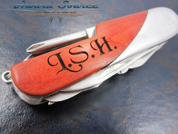 2, Personalized Knife with Initials - Groomsman Gift - Engraved Swiss Pocket Knife - Custom Engraved Gifts, Pocket Knife