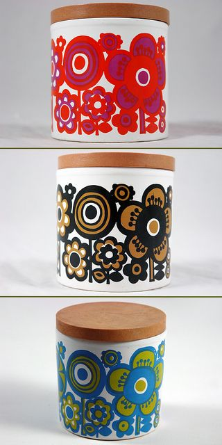 trio of Staffordshire Pottery containers by H is for Home, via Flickr