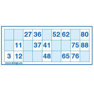 Generador cartones bingo 90 bolas