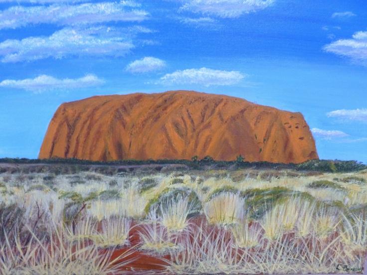 Ayers Rock Or Uluru Painting Australia In 2019 Painting