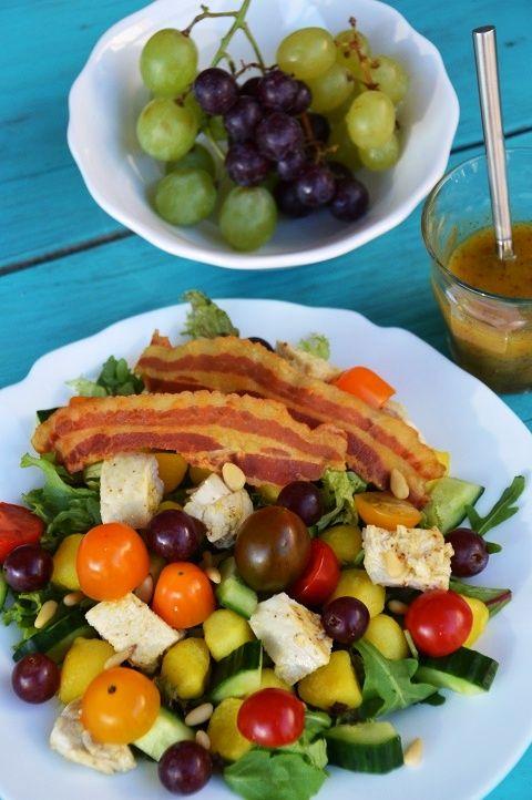 Maaltijdsalade kip met kleur
