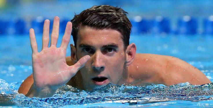Phelps señala su quinta clasificación olímpica.