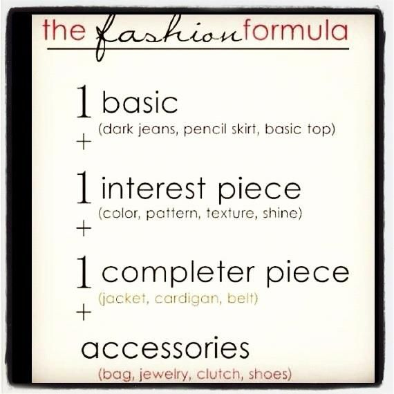Fashion Tips! Easy to follow fashion formula!