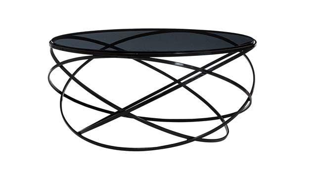 Original design glass coffee table - LES CONTEMPORAINS: EVOL by Cedric Ragot - ROCHE BOBOIS