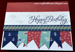 Joyful Birthday, Regatta, Close to My Heart, see more at www.craftwithronnie.blogspot.com